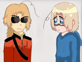 Hetalia  2p Canada And Canada by Claddle