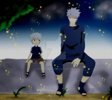 Kakashi and his father - Sukumo by Owocowe