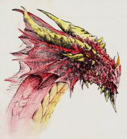 Dragons - Red Dragon by yunuskocatepe