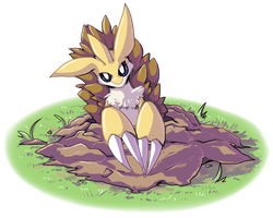 pokeddexy 11 ground - sandslash by Peegeray