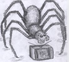 Spider and TV by CrazyScorpio