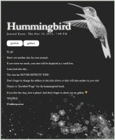 Hummingbird Poop by Wonderquarium