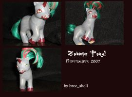 Zombie Pony by breebree16