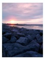 Sunset on Morecambe Beach II by dreamsofwinter