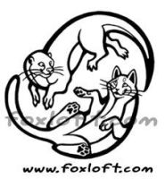 Yin and Yang Cat and Otter Tattoo by Foxfeather248
