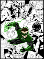 Green Lantern Ink and Color by HunterSnake11