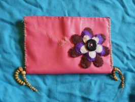 faux leather purse by moonwolf17