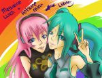 miku and luka. by pink-meringue