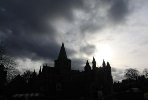 Rochester Cathedral by theharshjudge