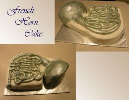 French Horn Cake by cake-engineering