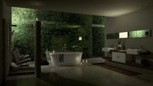 living with water_night by brown-eye-architects