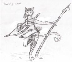 Khajiit acrobat female by BaconRaider