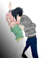 -Scene from a SasuSakuRPG by S-0-N-N-E (COLOR) by ktacik1