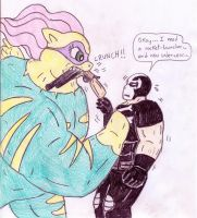 Saddle Rager vs Crossbones by Jose-Ramiro