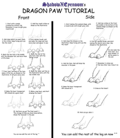 Dragon Paw Tutorial by ShadowXEyenoom