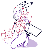 YCH: 40  Pika Pile! [CLOSED] by Pikapaws
