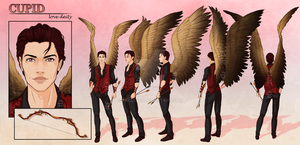 Cupid - Character Reference Sheet by tbdoll