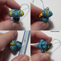 Shinx Mini Charm by ChibiSilverWings