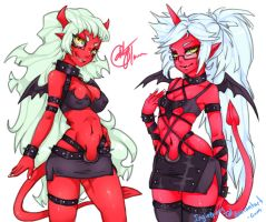 Scanty and kneesocks sketch by Ingiebunny