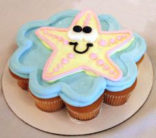 Starfish CupCake by theshaggyturtle