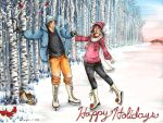 Holiday Skating by Tobi-chan-Lissesul