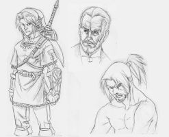 Link, Connery, and Genchu by Suburban-Samurai