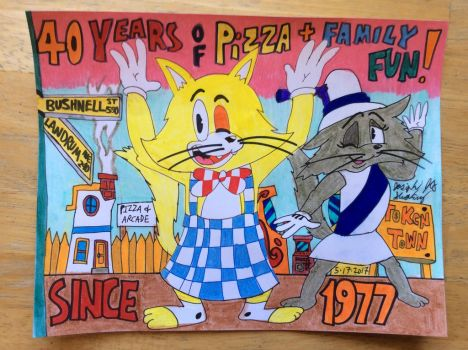 40 Years Of The Pizza Family Fun by JCSStudio