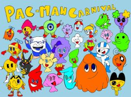 Pac-Man Carnival Characters by StrawberryStar123