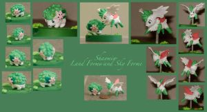 Shaymin Formes figures by Porcubird