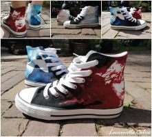Phantom - Les Mis Shoes by LacernellaRubra