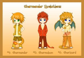 +Gijinka+ Charmander Evolution by ShadowSeason