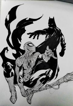Batman and Spiderman by TheLoneTyki