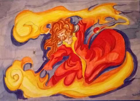 [Fan art] : Balthazar danse dans les flammes by juliabakura