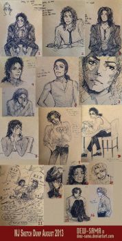 MJ sketch dump 1 by Dew-Sama