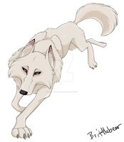 White wolf from Balto (Aniu) by Brittlebear
