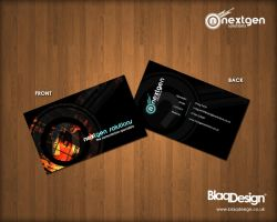 Nextgen Business Cards by blaqdesign