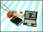 Death Note L + Light Mobile Strap by GrandmaThunderpants
