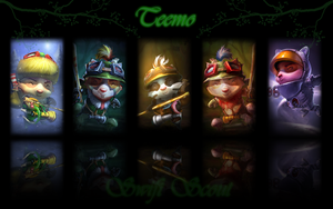 Teemo background by K4tEe