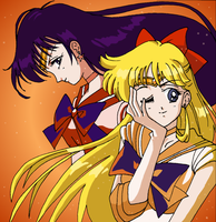 Sailor Mars and Venus by seiyaodango