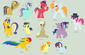 Huge Bunch of Shipping Adopts CLOSED by Jess4horses