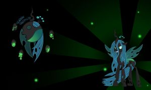 Queen Chrysalis Wall by Evilarticfox
