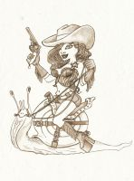 cow girl by Spacesam