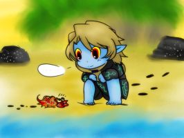 Alex and Hermit crab by Christy58ying