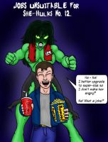 Jobs unsuitable for a She-Hulk by CycKath