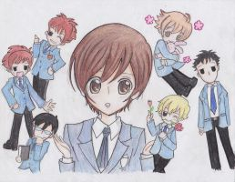 Ouran High school Hostclub by cuddleyanna
