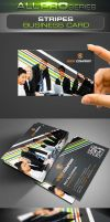 Stripes Business Card by ravirajcoomar