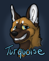 Turquoise Badge by PawthenticCreations