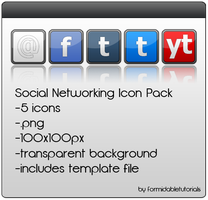 Social Networking Icon Pack by formidabletutorials