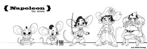 Charadesign_Napoleon the mouse by kimchii