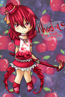 Contest Prize: Rhodine the red apple by FluffyKawaiiPuppy